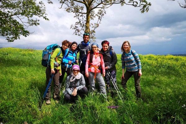 foto gruppo lungo via degli dei bologna