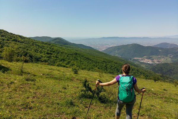 trekking via della lana e della seta